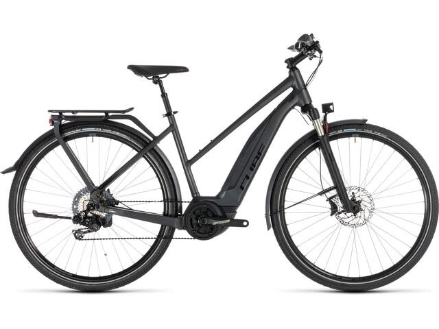 Cube Touring Hybrid SL 500 KIOX E-trekkingcykel Trapez grå (2019) | City-cykler